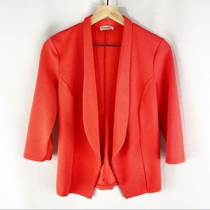 George 3/4 Sleeve Open Front Blazer Coral EUR 40
